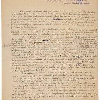Albert Gleizes. Autograph Manuscript Signed. ...