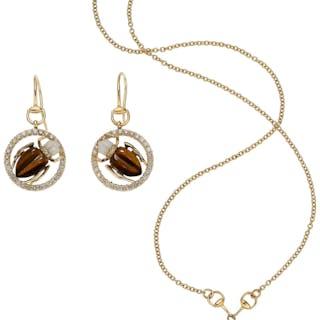 Colored Diamond, Multi-Stone, Gold Jewelry Suite, Gucci ... (Total: 2 Items)