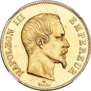 Napoleon III gold 100 Francs 1859-A MS62 NGC,...