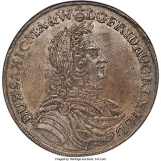 Saxony. Friedrich August I Taler 1702 IL-H MS61 NGC,...