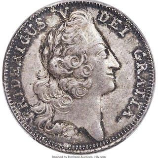 Frederik V Krone 1748 MS62 PCGS,...