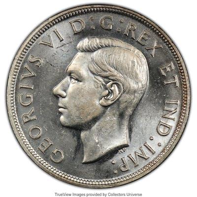 "George VI ""Blunt 7"" Dollar 1947 MS64 PCGS,..."
