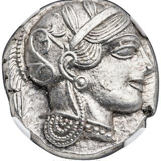 ATTICA. Athens. Ca. 440-404 BC. AR tetradrachm (24mm, 17.19 gm, 7h).
