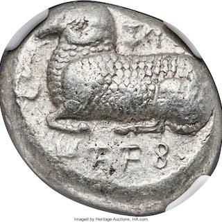 CYPRUS. Salamis. Nicodamus (ca. 460-450 BC). AR stater (21mm, 2h).