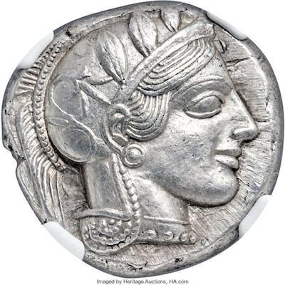 ATTICA. Athens. Ca. 440-404 BC. AR tetradrachm (24mm, 17.19 gm, 2h).