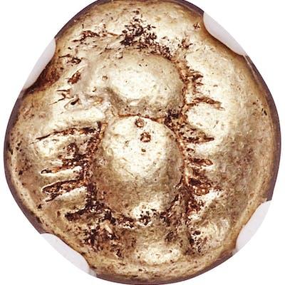 IONIA. Ephesus. Ca. 600-550 BC. EL third-stater or trite (12mm, 4.68