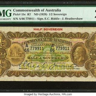 Australia Commonwealth Bank of Australia 1/2 Sovereign ND (1928) Pick
