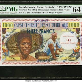 French Guiana Caisse Centrale de la France d'Outre-Mer 10 Nouveaux