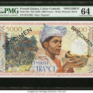 French Guiana Caisse Centrale de la France d'Outre-Mer 5000 Francs