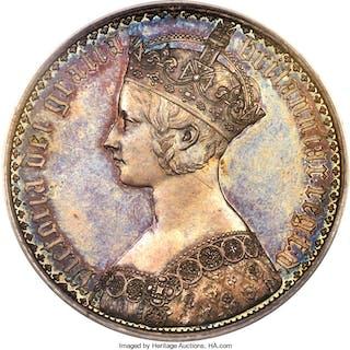 "Victoria Proof ""Gothic"" Crown 1847 PR63 PCGS,..."