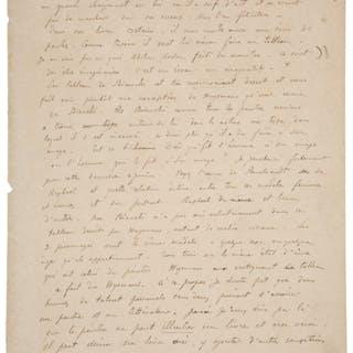 """Paul Gauguin. Autograph Manuscript. """"On Ugliness:..."""". ..."""
