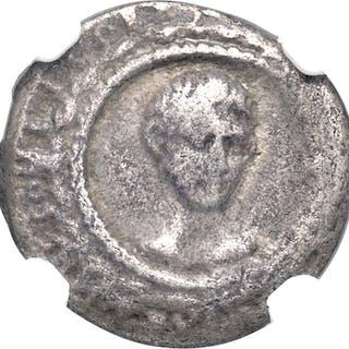 Augustus (27 BC-AD 14). AR denarius (18mm, 3.30 gm, 4h). NGC Fine 4/5 - 3/5....