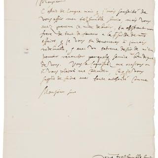 Nicolas-Claude Fabri de Peiresc. Autograph Letter Signed.  ...