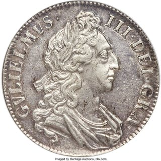 William III Crown 1695 MS62 NGC,...