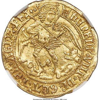 Henry VIII (1509-1547) gold Angel ND (1509-1526) XF45 NGC,...