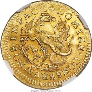 Basel. City gold Ducat ND (c. 1775) MS62 NGC,...