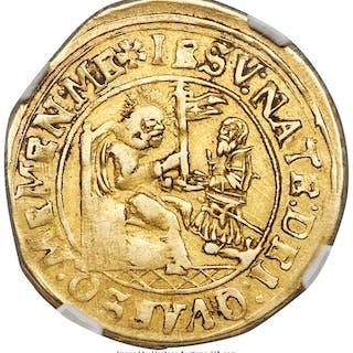 Haldenstein. Thomas I von Schauenstein gold Goldgulden ND (1609-1628)