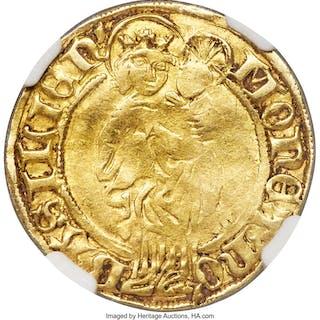 """Basel. Free Imperial City gold """"Interregnum"""" Goldgulden ND (1438) VF25 NGC,..."""