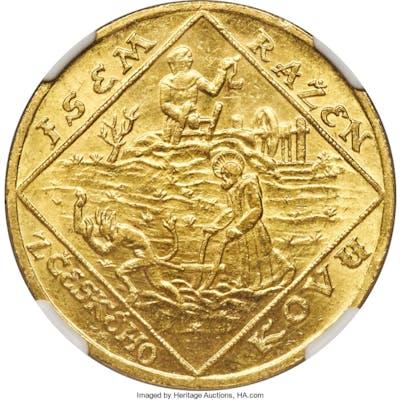 Republic gold 4 Dukaten 1928 MS63+ NGC,...