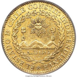 Republic gold 4 Escudos 1834 So-IJ XF45 PCGS,...