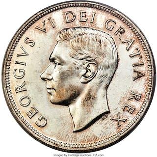 George VI Dollar 1948 MS63 PCGS,...