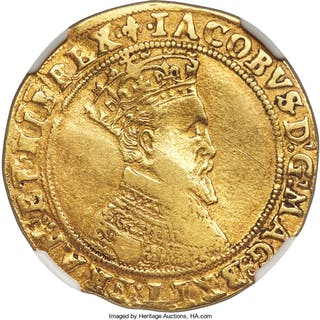James I (1603-1625) gold Double Crown ND (1604-1605) VF Details (Obverse