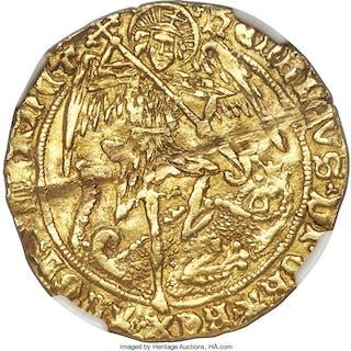 Henry VI (2nd Reign, Restored) gold Angel ND (1470-1471) AU Details