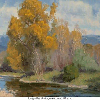 Charles John Fritz (American, b. 1955) River Road Autumn Oil on panel