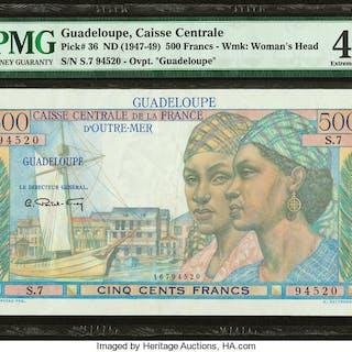 Guadeloupe Caisse Centrale de la France d'Outre-Mer 500 Francs ND