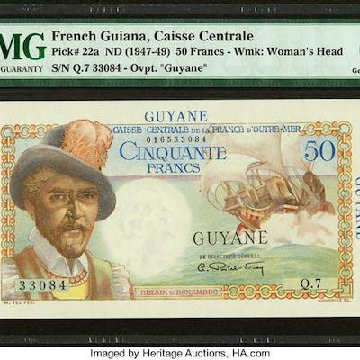 French Guiana Caisse Centrale de la France d'Outre-Mer 50 Francs ND