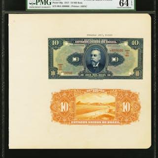 Brazil Thesouro Nacional 10 Mil Reis 1917; 1924 Picks 36p; 39p Front