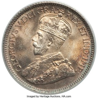 George V 10 Cents 1936 MS67 PCGS,...