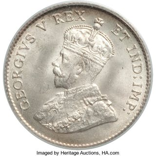 George V 5 Cents 1911 MS66 PCGS,...