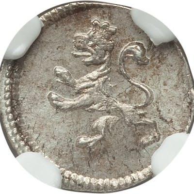 Ferdinand VII 1/4 Real 1810-L MS65 NGC,...