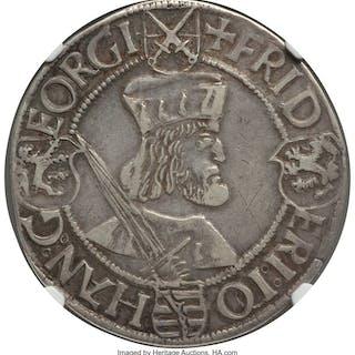 Saxony. Friedrich Johann & Georg Taler ND (1507-1525) VF25 NGC,...