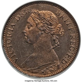 Victoria Proof Farthing 1883 PR65 Red and Brown PCGS,...