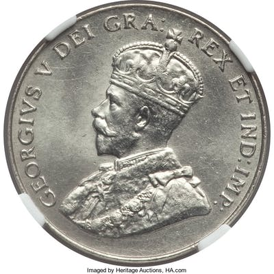 George V 5 Cents 1929 MS65 NGC,...