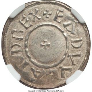 Kings of Wessex. Edward the Elder Penny ND (899-924) AU58 NGC,...