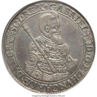 Gabriel Bethlen Taler 1621-KB AU Details (Mount Removed) NGC,...