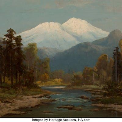 Frederick Schafer (German/American, 1839-1927) Mount Shasta, California