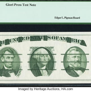Offset Error Giori Back Test Note ND (1976) PCGS Very Choice New 64. ...