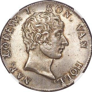 Kingdom of Holland. Louis Napoleon 50 Stuivers 1808 MS65 NGC,...