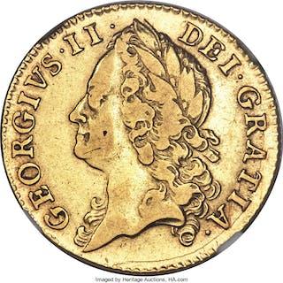George II gold Guinea 1746 VF35 NGC,...