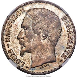 Louis-Napoleon 5 Francs 1852-A MS65 NGC,...