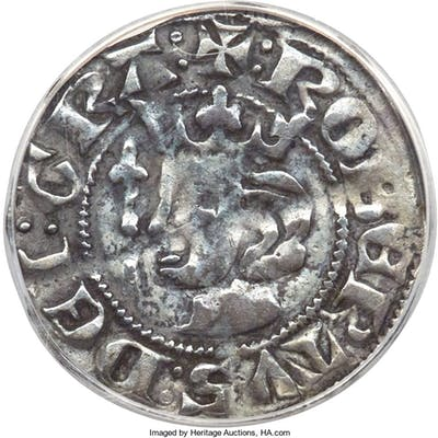 Robert the Bruce Penny ND (1306-1329) VF30 ANACS,...