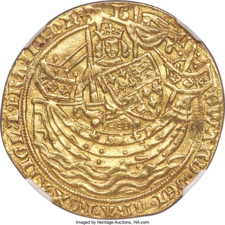 Edward III (1327-1377) gold Noble ND (1356-1361) XF Details (Mount