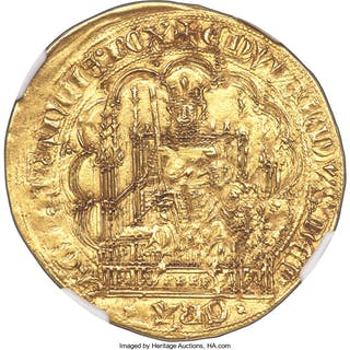 Aquitaine. Edward III (1325-1377) gold Écu d'or à la chaise ND (1344-1345)