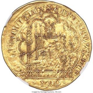 Aquitaine. Edward III (1325-1377) gold Écu d'or à la chaise ND (1344-1345)