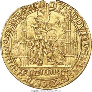 Flanders. Louis II de Mâle (1346-1384) gold Lion heaumé d'Or ND (1365-1370)