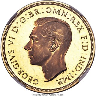 George VI gold Proof 2 Pounds 1937 PR65 S NGC,...